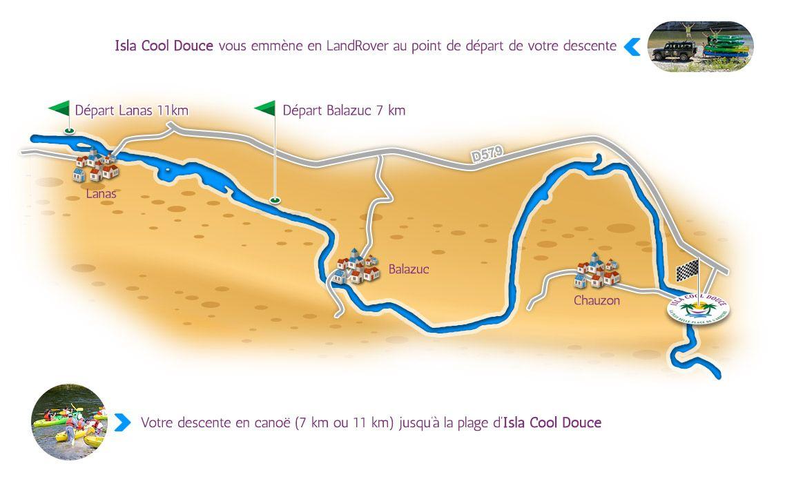 Plan des descentes